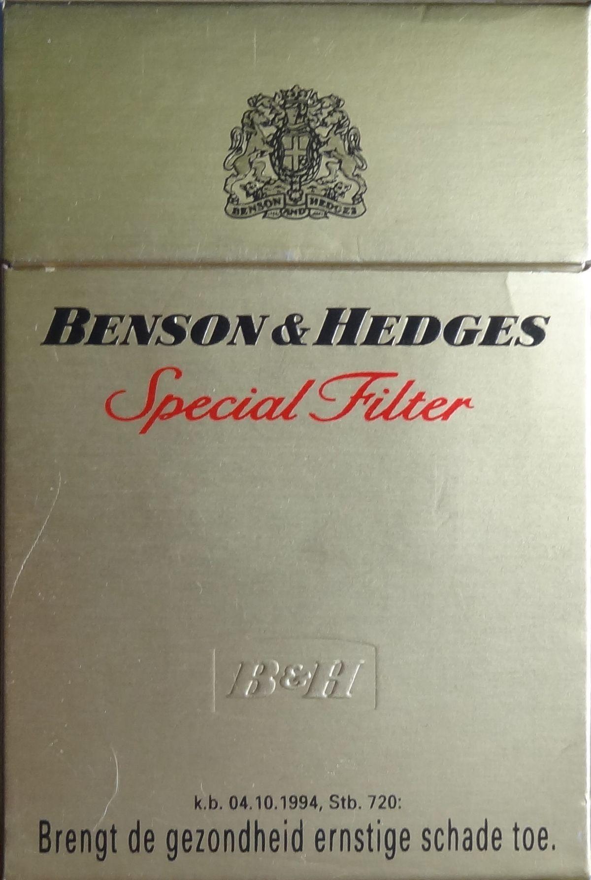 Benson hedges wikipedia for Www b b it