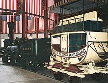 Train cars displayed at the B&O Railroad Museum