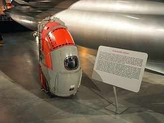 Convair B-58 Hustler - B-58 crewmember escape capsule