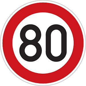 National Speed Limits (Malaysia) - Malaysian (also international) speed limit sign since September 1998
