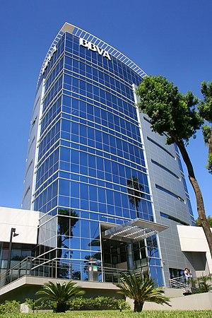 Español: Edificio sede del Banco Bilbao Vizcay...
