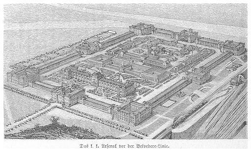 BERMANN(1880) p1160 Das Arsenal vor der Belvedere-Bahnlinie