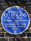 BERNARDO O'HIGGINS 1778-1842 General Statesman and Liberator of Chile lived and studied here.jpg