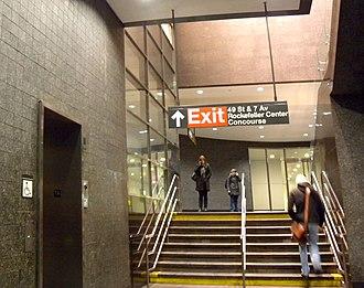 49th Street (BMT Broadway Line) - Passageway to Rockefeller Center