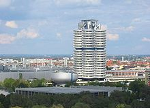 BMW Headquarters building (one of the few buildings that have been built from the top to the bottom) and the bowl shaped BMW museum