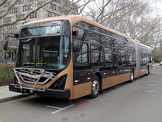 BYD Auto - BYD K11 articulated bus at MIT, March 2016