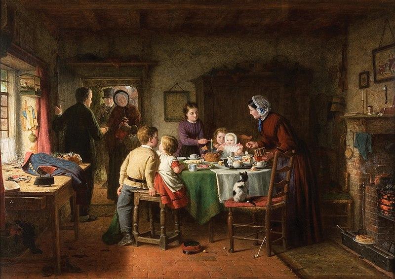 Baby's Birthday. Frederick Daniel Hardy, 1867.jpg