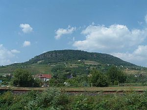 Transdanubian Mountains - Badacsony, an isolated mountain in the range. In ancient times, it was an  active volcano