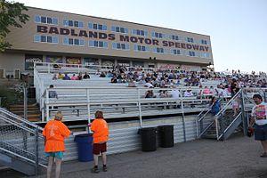 Badlands Motor Speedway - Upper grandstands