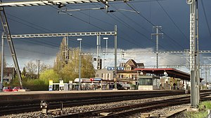 Oberwinterthur railway station - The station yard, 2012.