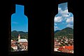 Baja-Mare - The windows of Stephens Tower cutting patches of landscape.jpg