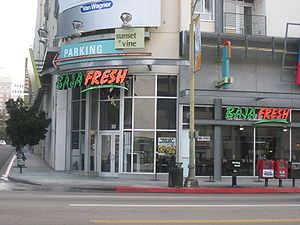 Baja Fresh - A Baja Fresh restaurant on Sunset Boulevard in Hollywood, California in 2008.