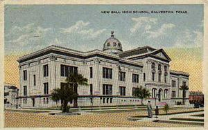Ball High School - Image: Ball High 1890 1901