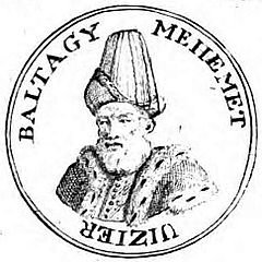 Baltacı Mehmet Pasha from William Hogarth (1697-1764) illustration Bataille du Prout.jpg