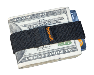 Picture of the Bandit Wallet, invented by Rich...