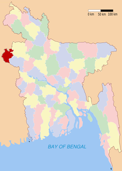 Location of Nawabganj in Bangladesh