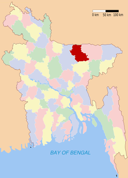 Location of Netrakona in Bangladesh