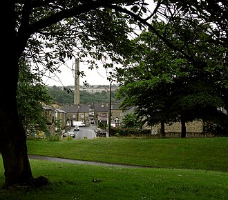 Bankfield Museum - View from Akroyd Park of Halifax