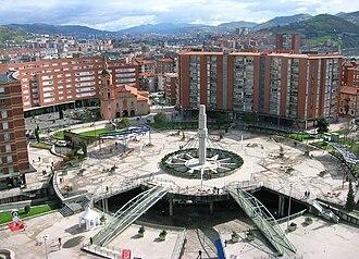 Barakaldo - Plaza de Cruces - Gurutzeta, as seen from the Hospital.