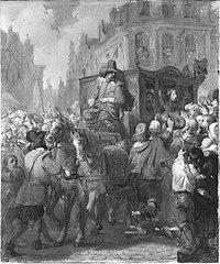 Anno 1672. Het volk van Dordrecht juicht Willem III toe