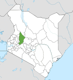 Location of Baringo County (Green)