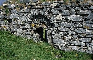 Finbarr of Cork - Portal of Cille Bharra on Barra Island
