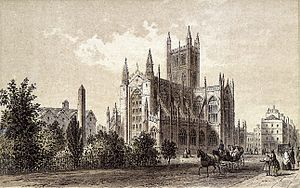 Bath Abbey - The abbey in 1875