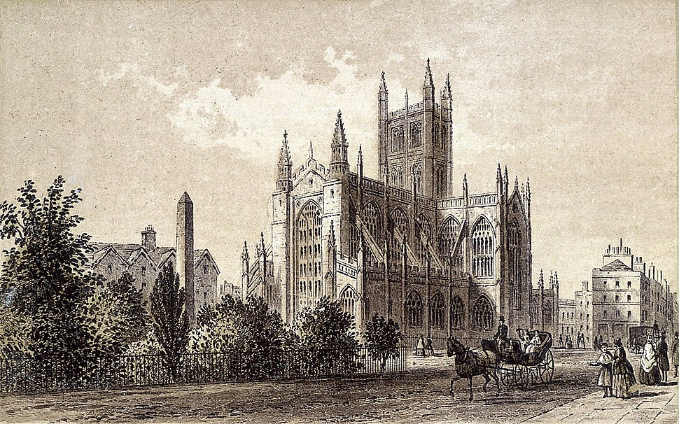 Bath Abbey, 1875