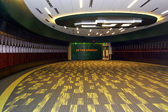 McLane Stadium - McLane Stadium locker room