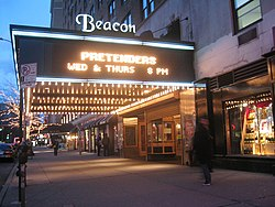 Beacon Theater, advertising a concert with The Pretenders, 2003