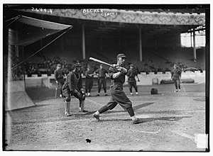 Beals Becker - Becker batting for the Cincinnati Reds in 1913