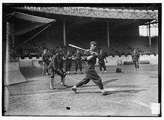 Beals Becker - Becker batting for the Cincinnati Reds in 1913