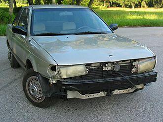 Decrepit car - A decrepit car