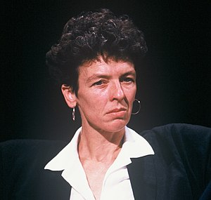 Beatrix Campbell - Appearing on tv programme After Dark in 1987
