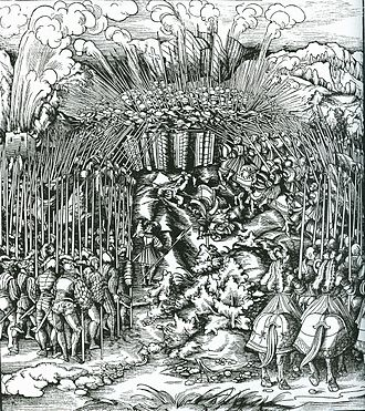 War of the Succession of Landshut - Emperor Maximilian personally led his troops at the battle of Wenzenbach in 1504.