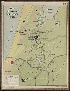 Siege of Leiden - Map of the Siege of Leiden
