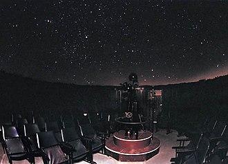 Planetarium - Inside the same hall during projection. (Belgrade Planetarium, Serbia)