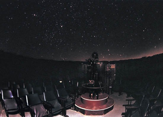 Belgrade Planetarium theatre night