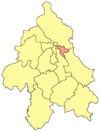 Location within the City of Belgrade