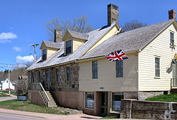 The old Bell Inn in Dorchester, New Brunswick was an inn between 1820 and 1860.