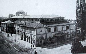 Alois Negrelli - Kornhaus (granary) and concert hall, Zurich 1839, demolished in 1896