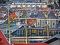 Bergen - Mariakirkens tårn i bymylderet fra Klosterhaugen på Nordnes.jpg