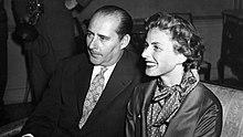 Rossellini con Ingrid Bergman.