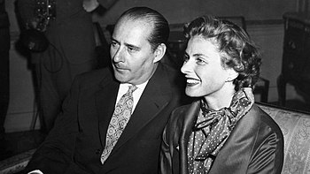 English: Photo of Ingrid Bergman and Roberto R...