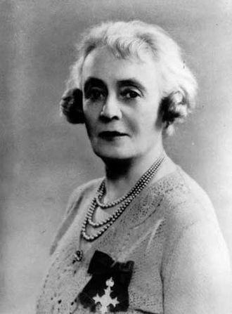 Bessie Rischbieth - Bessie Rischbieth wearing her OBE medal