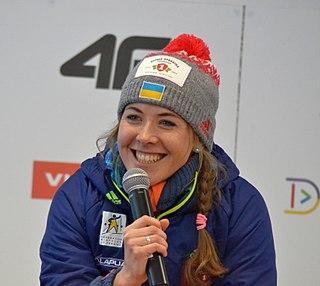 Yuliia Dzhima Ukrainian World Cup level biathlete