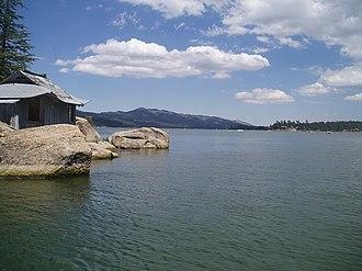 Big Bear Lake - Looking east from China Island