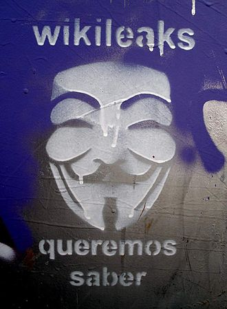 "WikiLeaks - Graffiti in Bilbao ""We want to know."""