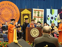 Billy Joel receiving an Honorary Doctorate of Fine Arts from Syracuse University, May 14, 2006