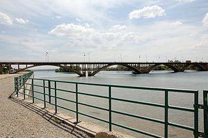 Birecik Bridge - Image: Birecik Euphratbrücke